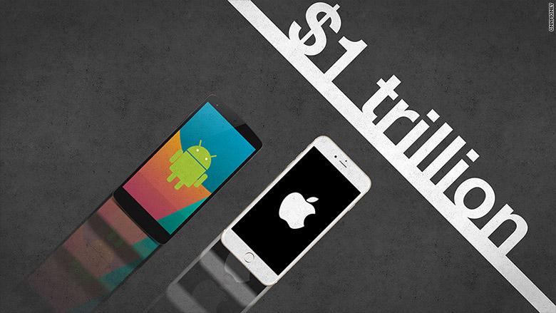 اپل یا گوگل، کدامیک زودتر به 1تریلیون دلار خواهد رسید؟